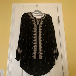 Lucky Brand black blouse